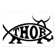 Thor Fish with Hammer Postcards (Package of 8)
