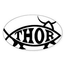 Thor Fish with Hammer Decal