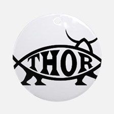 Thor Fish with Hammer Ornament (Round)