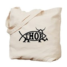 Thor Fish with Hammer Tote Bag