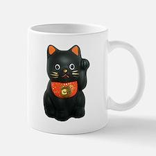 Black Lucky Cat Mug