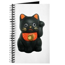 Black Lucky Cat Journal