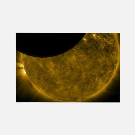 Unique Lunar eclipse Rectangle Magnet