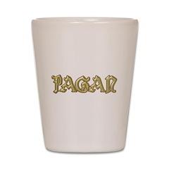Pagan Brushed Gold Shot Glass