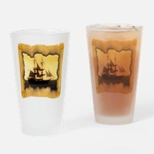 Pirate Ship Sailing the Sea Drinking Glass