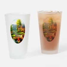 Cute House blessing Drinking Glass