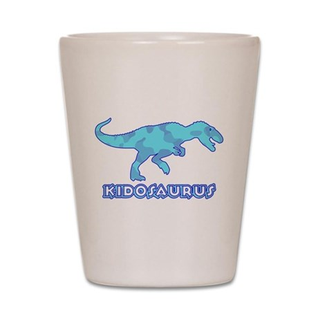 Blue Camo T-Rex Dinosaur Shot Glass