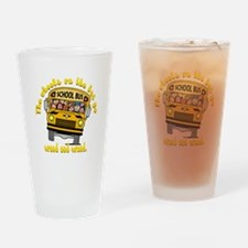 School Bus Kids Drinking Glass