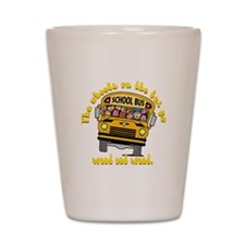School Bus Kids Shot Glass