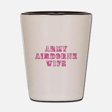 Army Airborne Wife Pink Camo Shot Glass