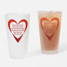 SATC Carrie Love Story Drinking Glass