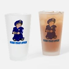 Future Police Officer Drinking Glass