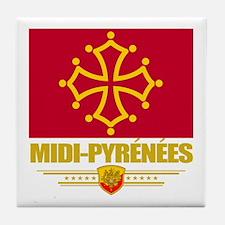 Midi-Pyrenees Tile Coaster