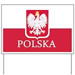 Polish Flag Yard Sign