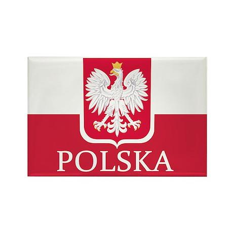 Polish Flag Rectangle Magnet (100 pack)