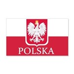 Polish Flag 22x14 Wall Peel