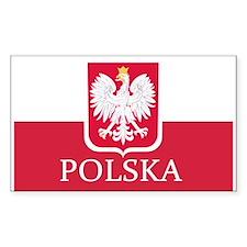 Polish Flag Stickers