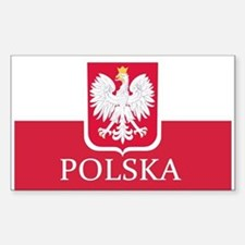 Polish Flag Stickers