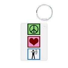 Peace Love Archery Keychains