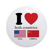 USA-CHINA Ornament (Round)