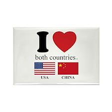 USA-CHINA Rectangle Magnet