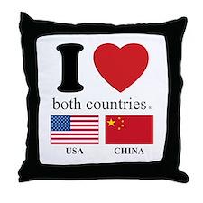 USA-CHINA Throw Pillow