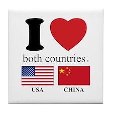 USA-CHINA Tile Coaster