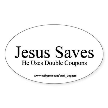 Double Coupons Oval Sticker