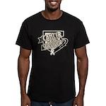 Lung Cancer Survivor Men's Fitted T-Shirt (dark)