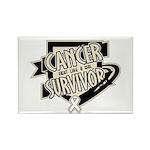 Lung Cancer Survivor Rectangle Magnet