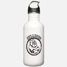 Bulldogs Team Mascot Graphic Water Bottle