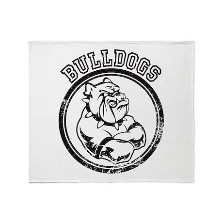 Bulldogs Team Mascot Graphic Throw Blanket