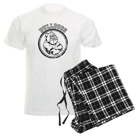 Bulldogs Team Mascot Graphic Men's Light Pajamas