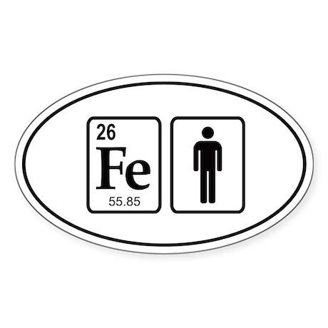 Ironman Element Sticker (Oval)