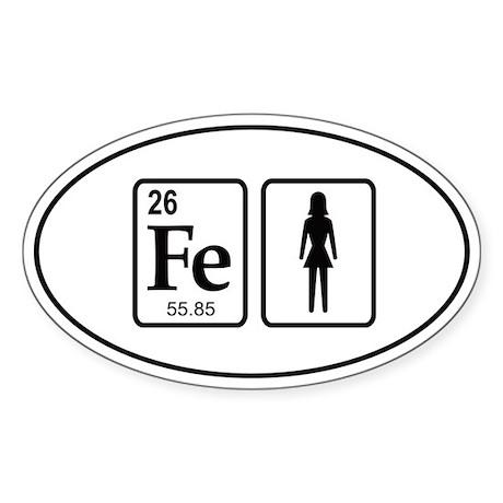 Ironwoman Element Sticker (Oval)