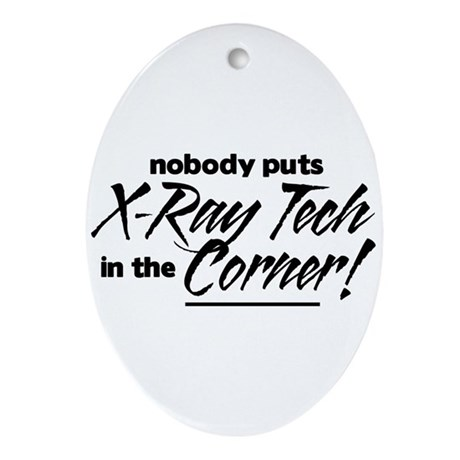 X-Ray Nobody Corner Ornament (Oval)