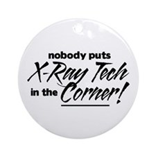 X-Ray Nobody Corner Ornament (Round)