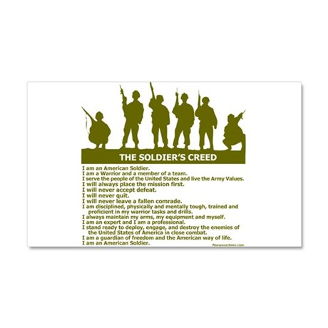 SOLDIER'S CREED Car Magnet 20 x 12
