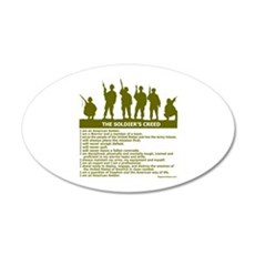 SOLDIER'S CREED 22x14 Oval Wall Peel