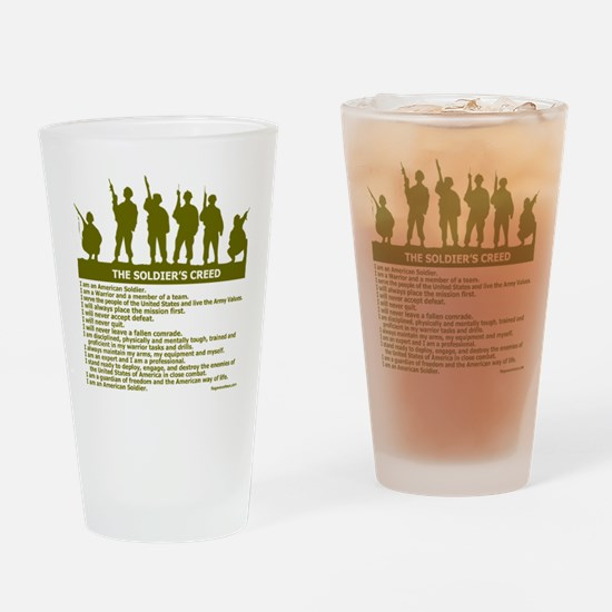 SOLDIER'S CREED Drinking Glass
