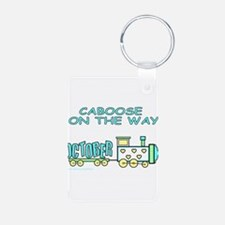 DUE IN OCTOBER Keychains