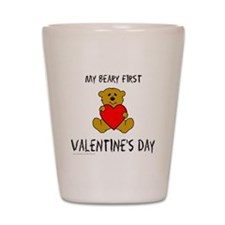 Cute Baby valentine's day Shot Glass