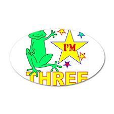 I'M THREE 38.5 x 24.5 Oval Wall Peel