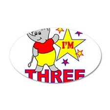 I'M THREE 22x14 Oval Wall Peel