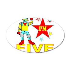I'M FIVE 22x14 Oval Wall Peel
