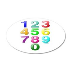 COUNTING/NUMBERS 22x14 Oval Wall Peel