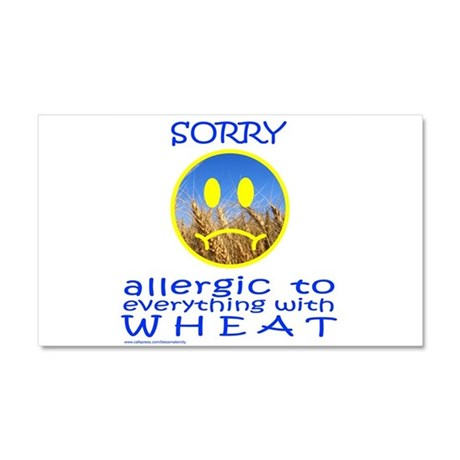 ALLERGIC TO WHEAT Car Magnet 20 x 12