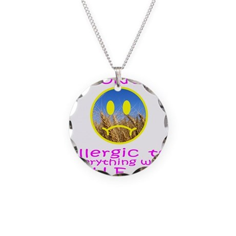 ALLERGIC TO WHEAT Necklace Circle Charm