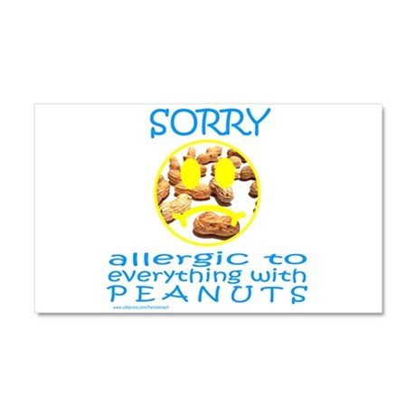 ALLERGIC TO PEANUTS Car Magnet 20 x 12