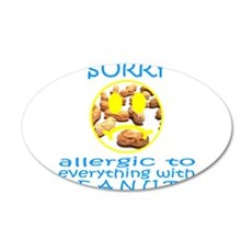 ALLERGIC TO PEANUTS 22x14 Oval Wall Peel